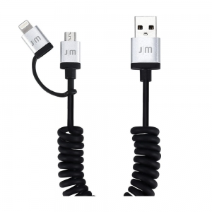 Kabel lightning + micro USB Just Mobile